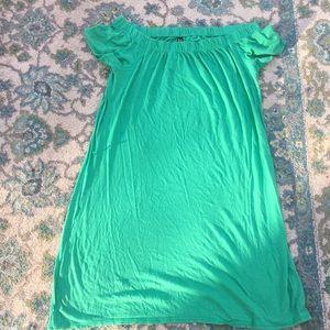 Green flow dress
